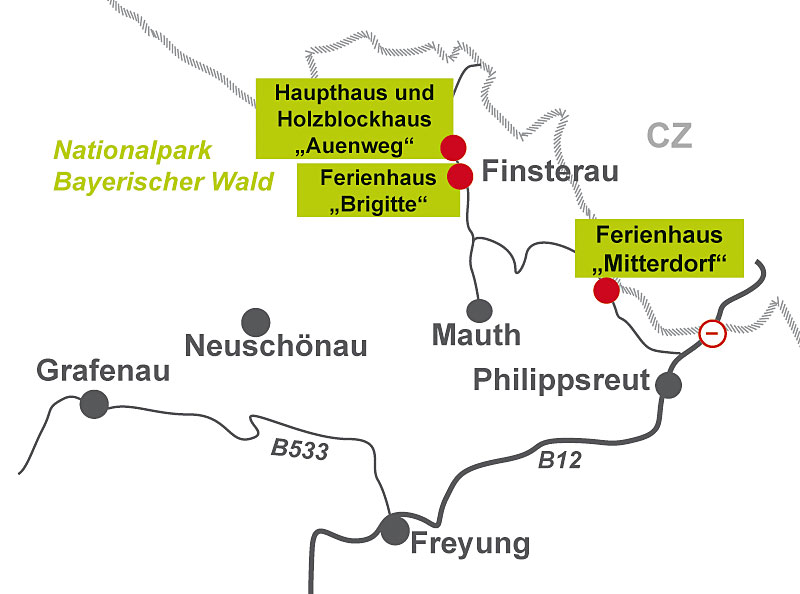 Nationalpark Bayerischer Wald Karte.Holzblockhaus Auenweg Exklusiver Urlaub Im Ferienhaus Am